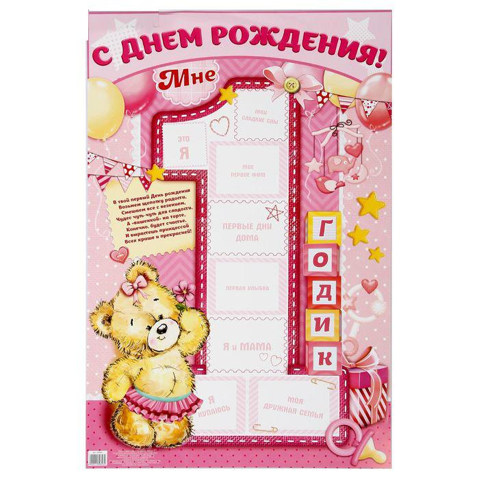 шаблоны на день рождения 1 годик четыре